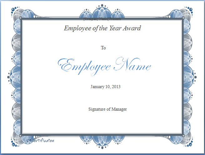 employee of the year award template blue layouts