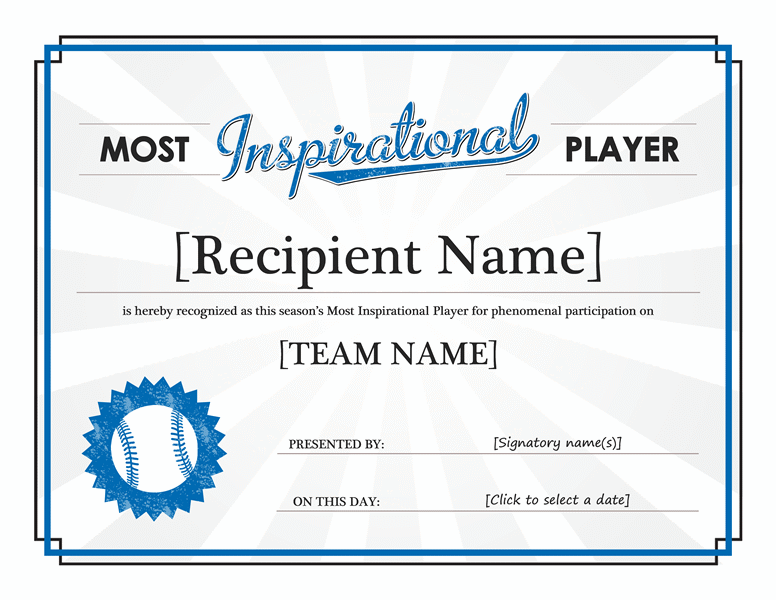 award certificate template word