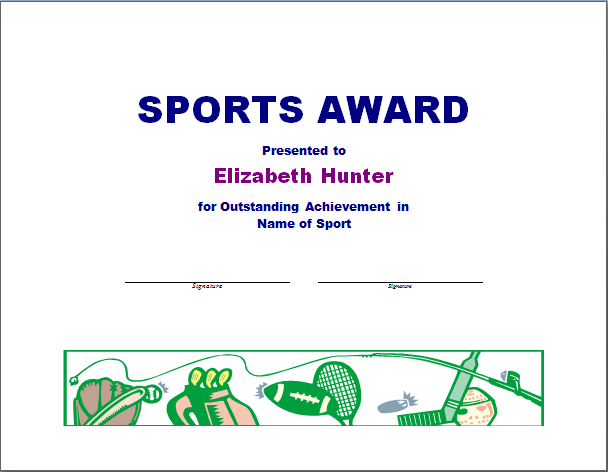 Sports award template peelland fm sports award template yadclub Image collections