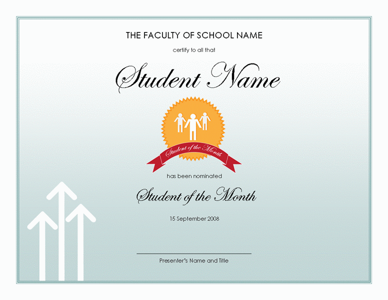 Student of the year award template blue layouts student of the year award template yelopaper Gallery