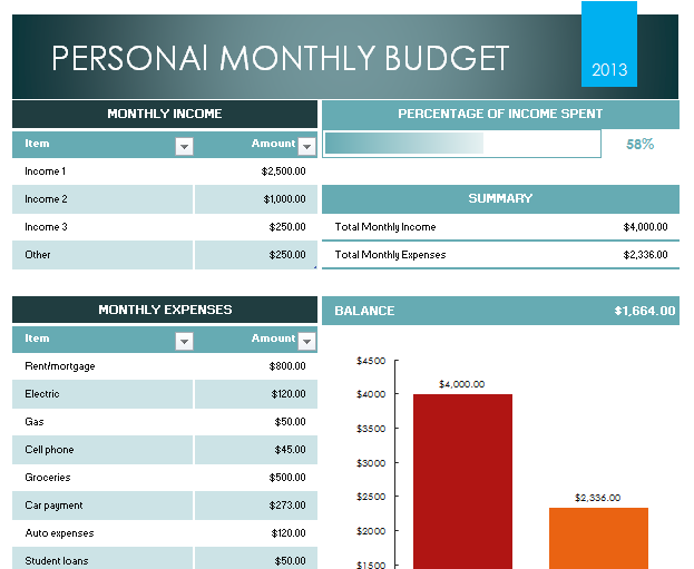 Here is download link for this Personal Budget Template 8GKim01l