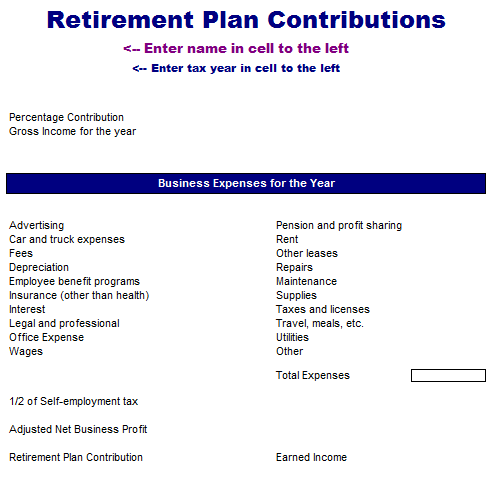 Retirement Plan Contributions Analysis Template
