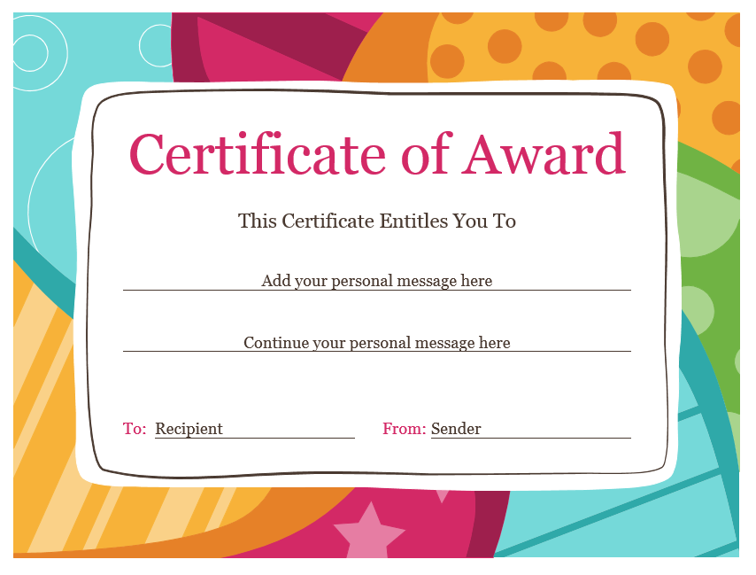Student Award Template from www.bluelayouts.org