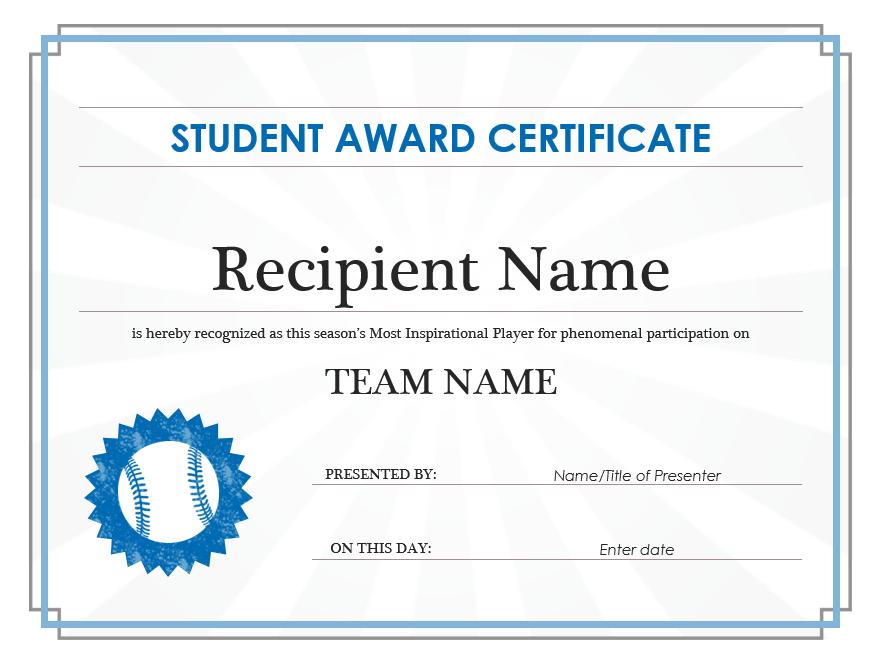 Student Award Template 06
