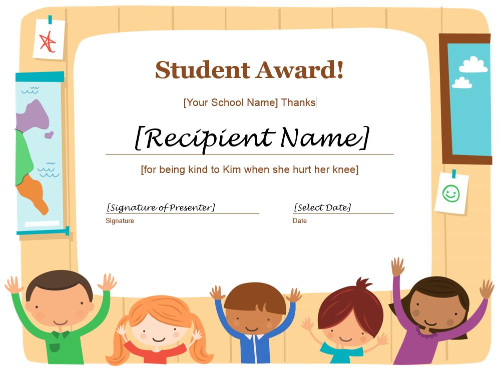 Student Award Template 08