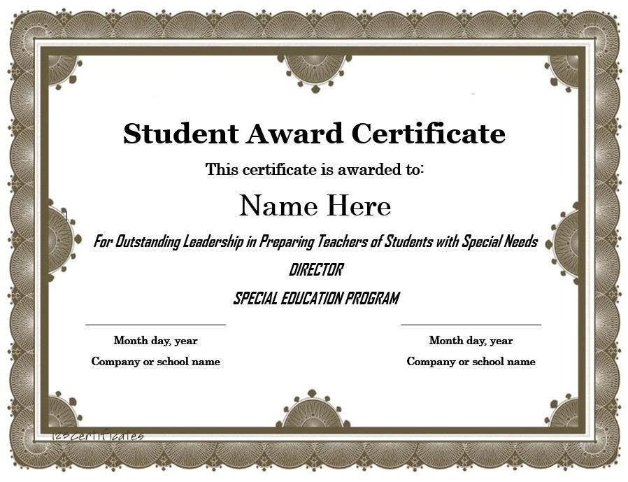Student Award Template 13