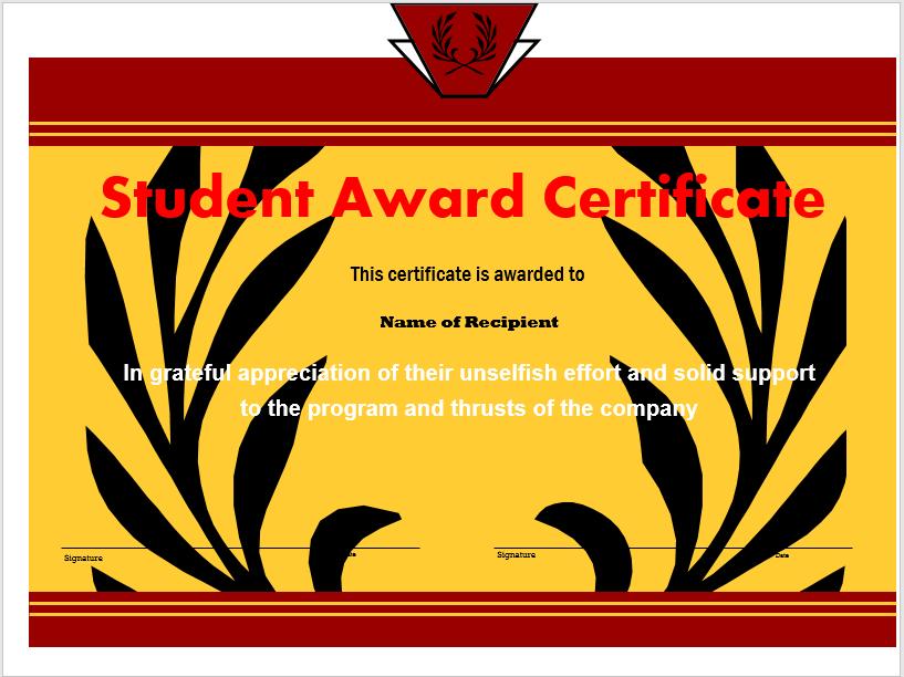 Student Award Template 14