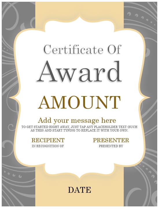 Award Certificate Template 03