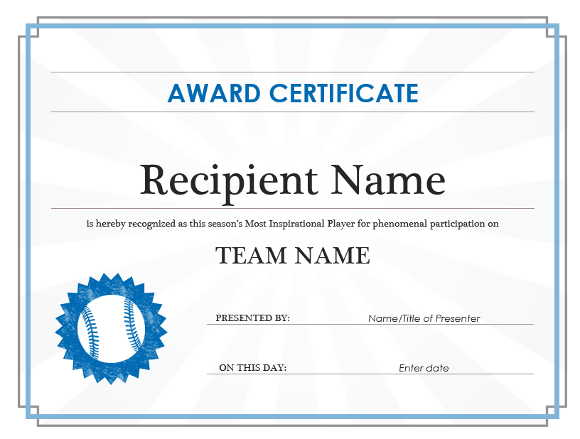 11 Free Efficiency Award Certificate Templates Ms Word Templates