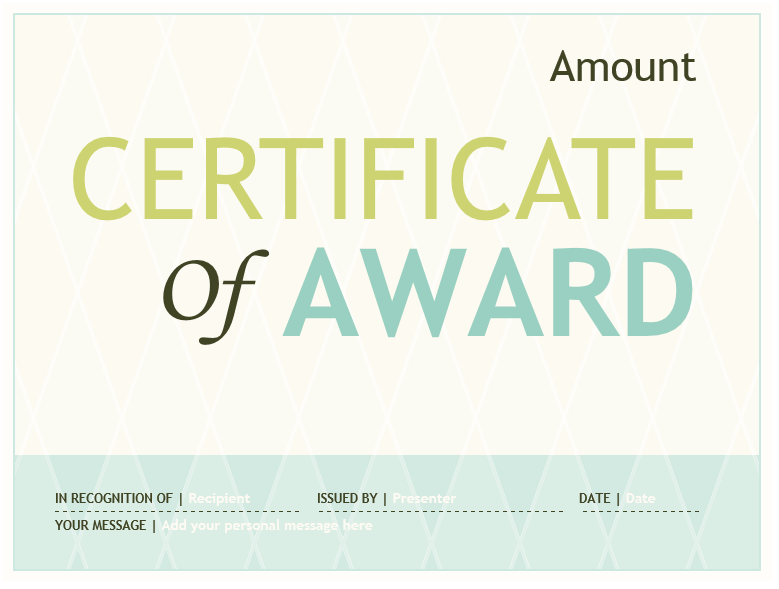 Award Certificate Template 06