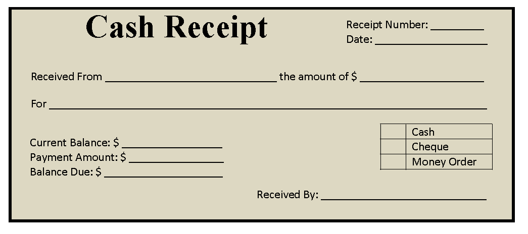 11 free cash receipt templates blue layouts