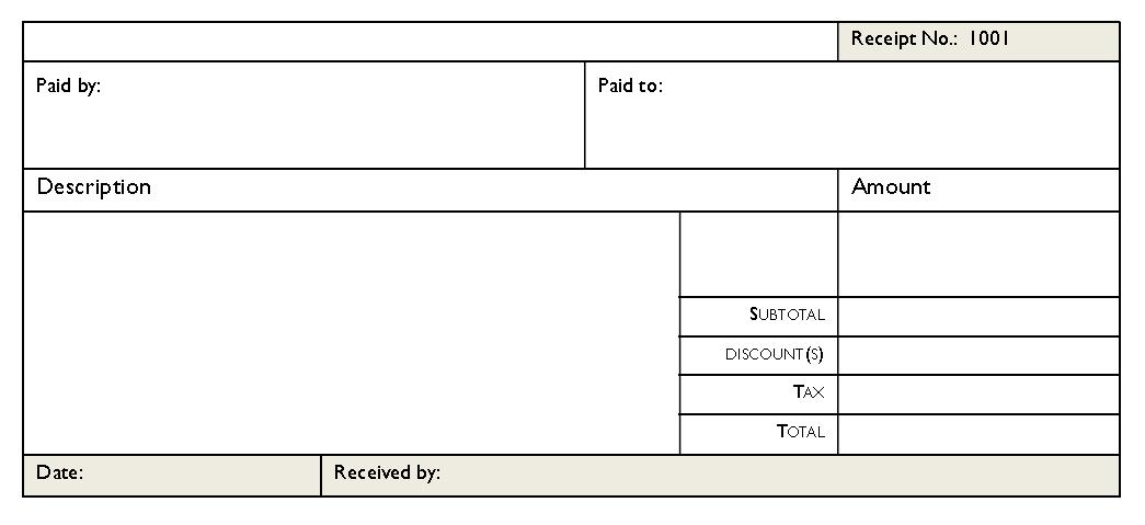 Cash Receipt Template 05