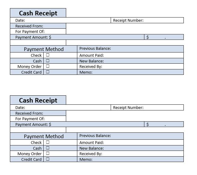 Cash Receipt Template 08