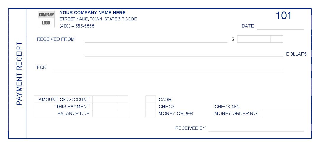 Cash Receipt Template 11