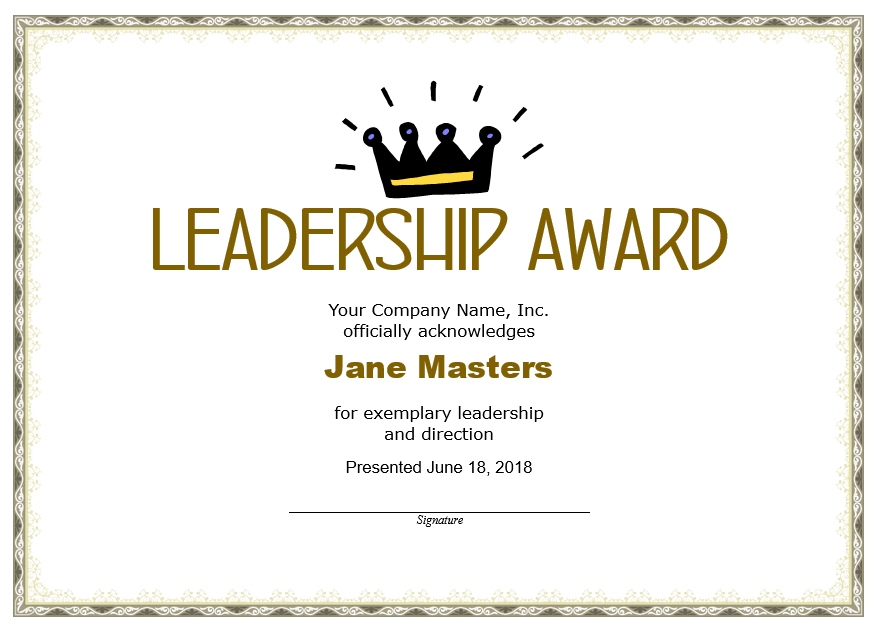 Leadership Certificate Template 07