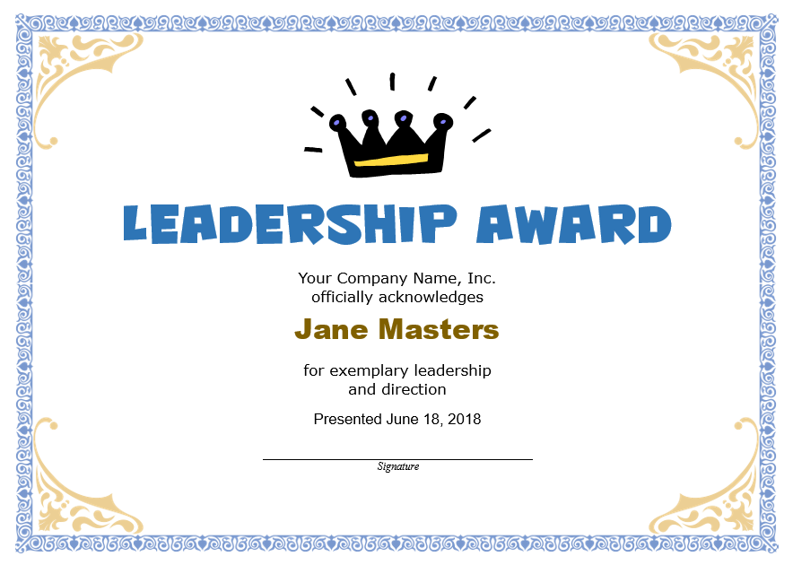 Leadership Certificate Template 08
