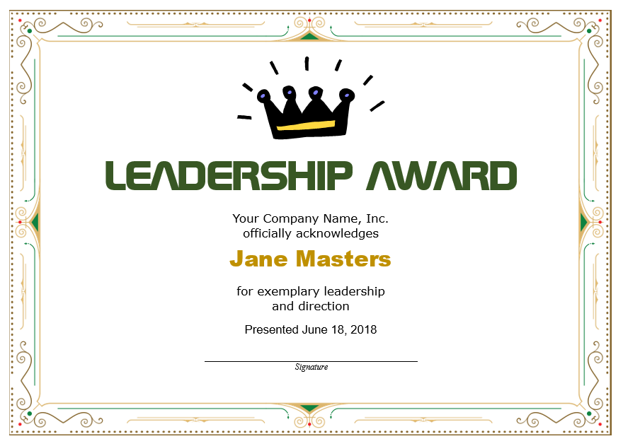 Leadership Certificate Template 11