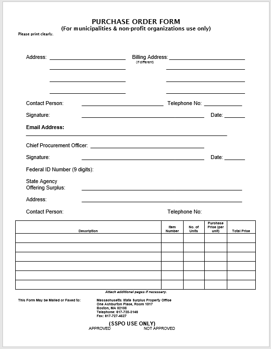 Purchase Order Template MS Word 05