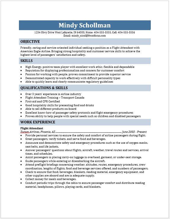 resume format for flight attendant 28 images flight