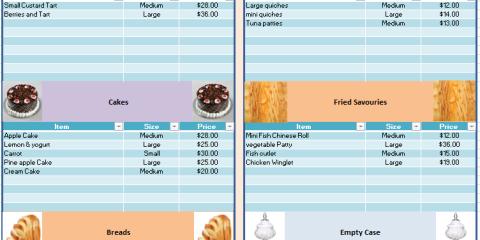 Bakery Price List Template