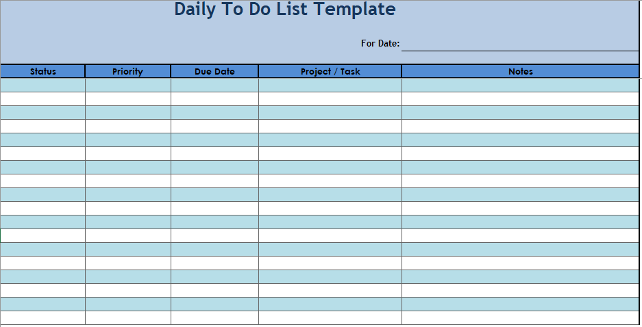 Daily To Do List Template 04