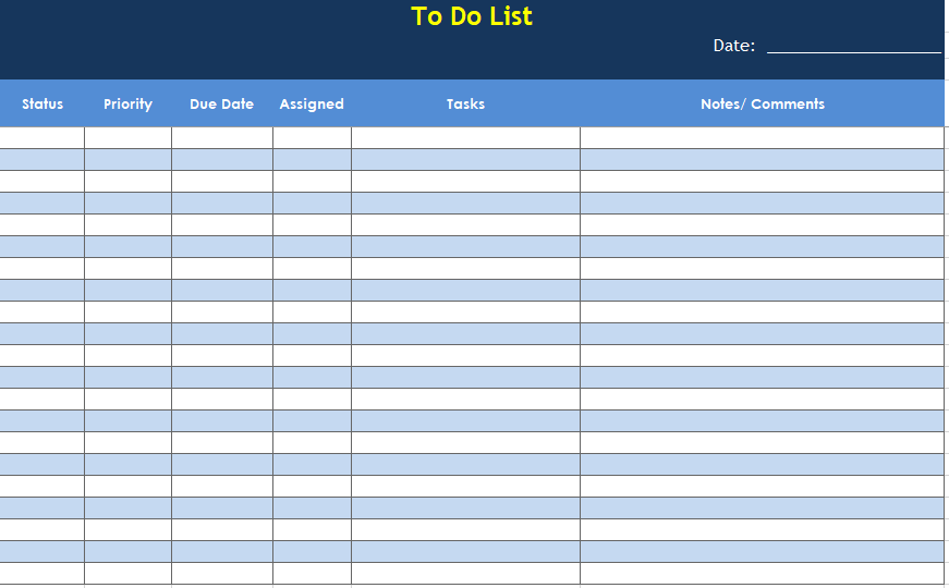 Daily To Do List Template 06