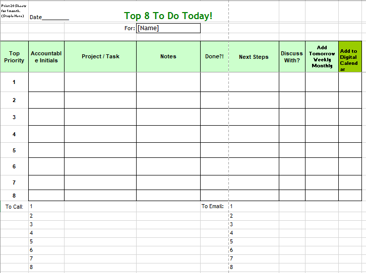 Daily To Do List Template 07