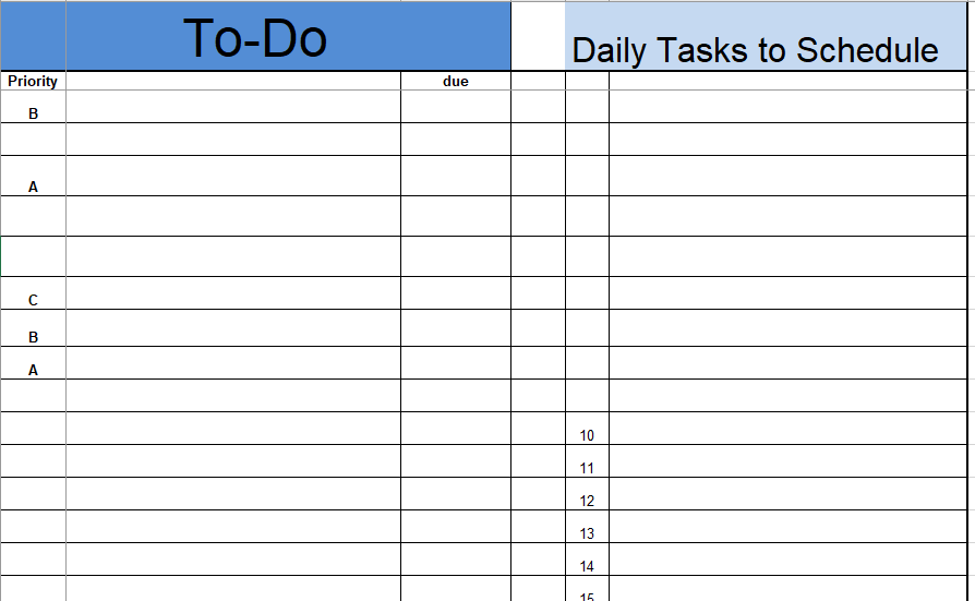 Daily To Do List Template 08