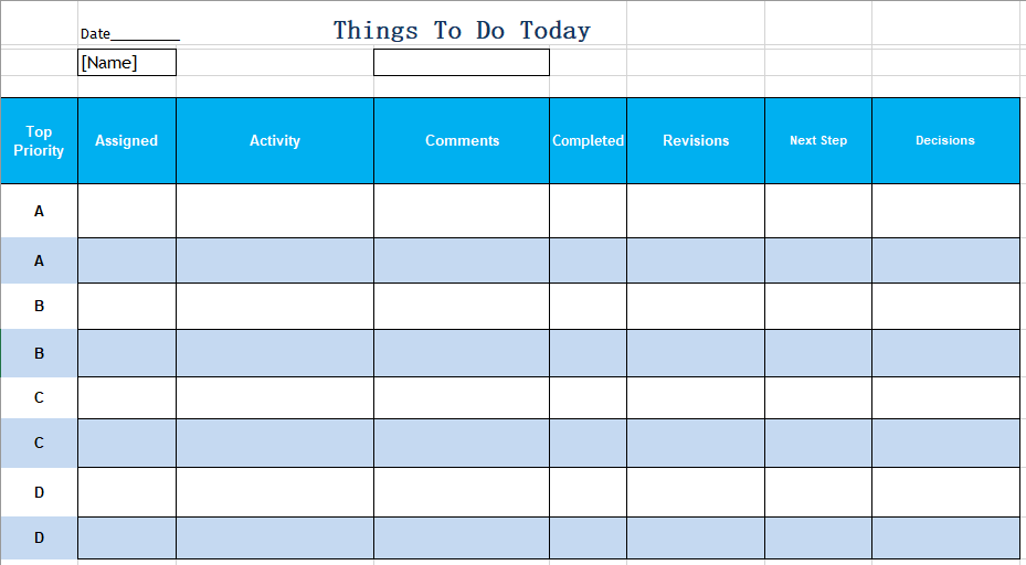 Daily To Do List Template 10