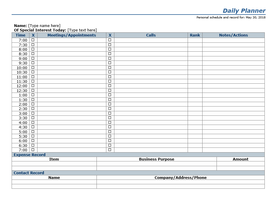 Daily To Do List Template 12