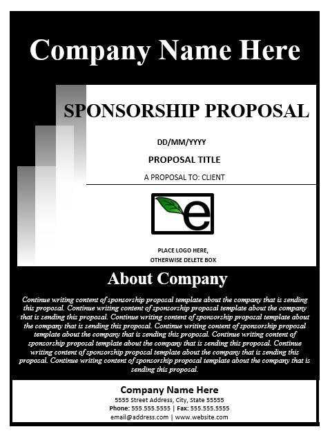 Sponsorship Proposal Template 02