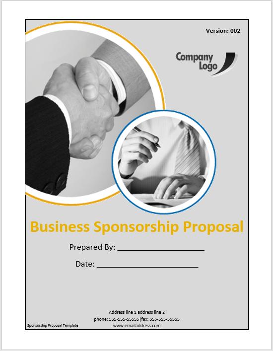 Sponsorship Proposal Template 03