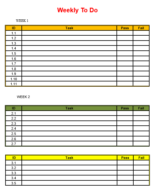 Weekly To Do List Template 02
