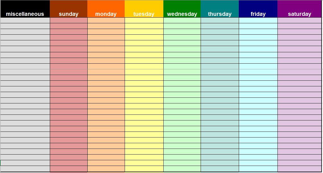 Weekly To Do List Template 04