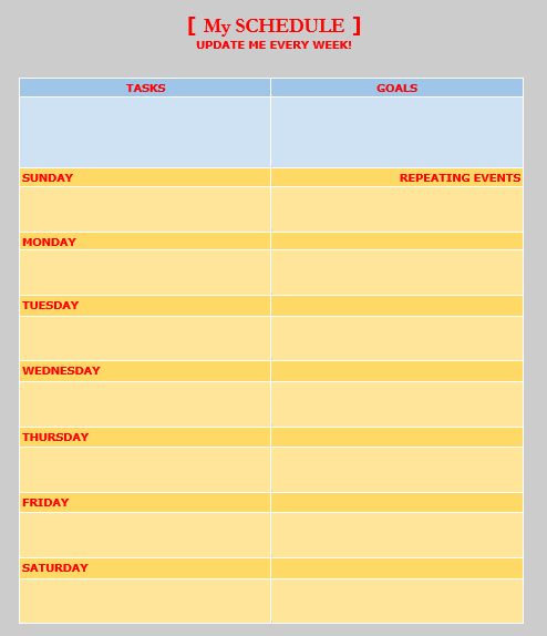 Weekly To Do List Template 06
