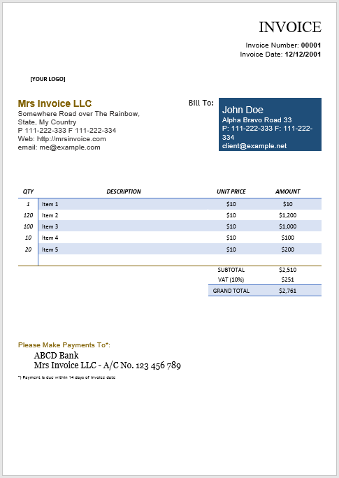 hourly invoice template 05