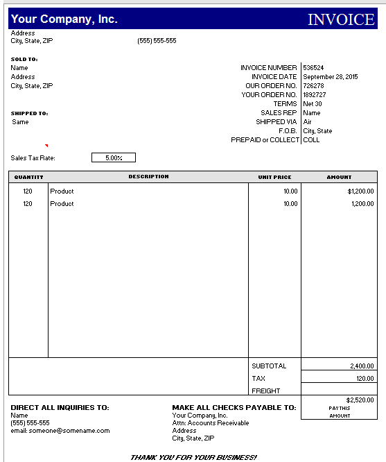 hourly invoice template 06