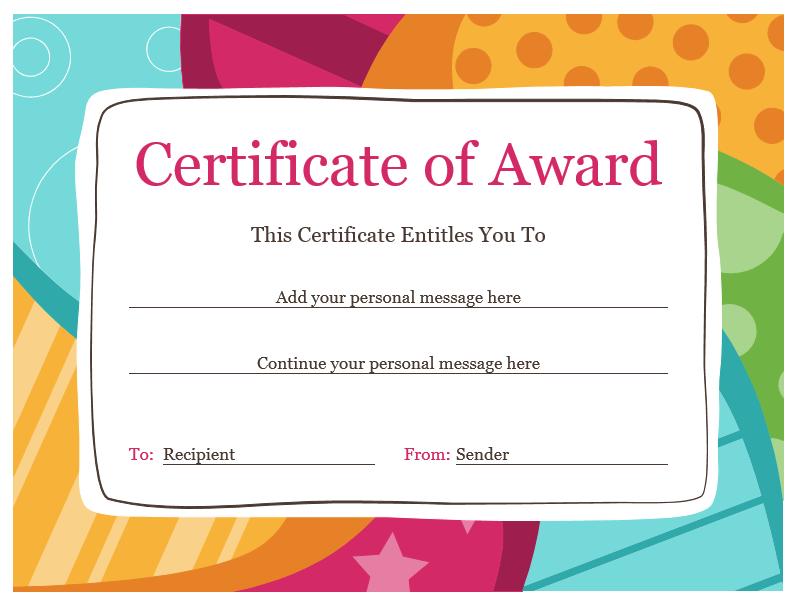 Award Certificate Template 07