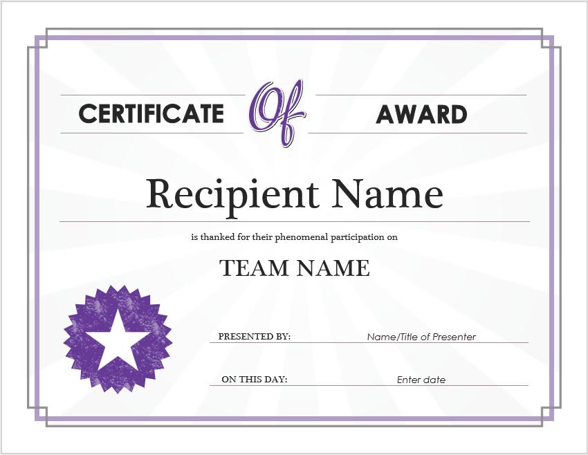 Award Certificate Template 08