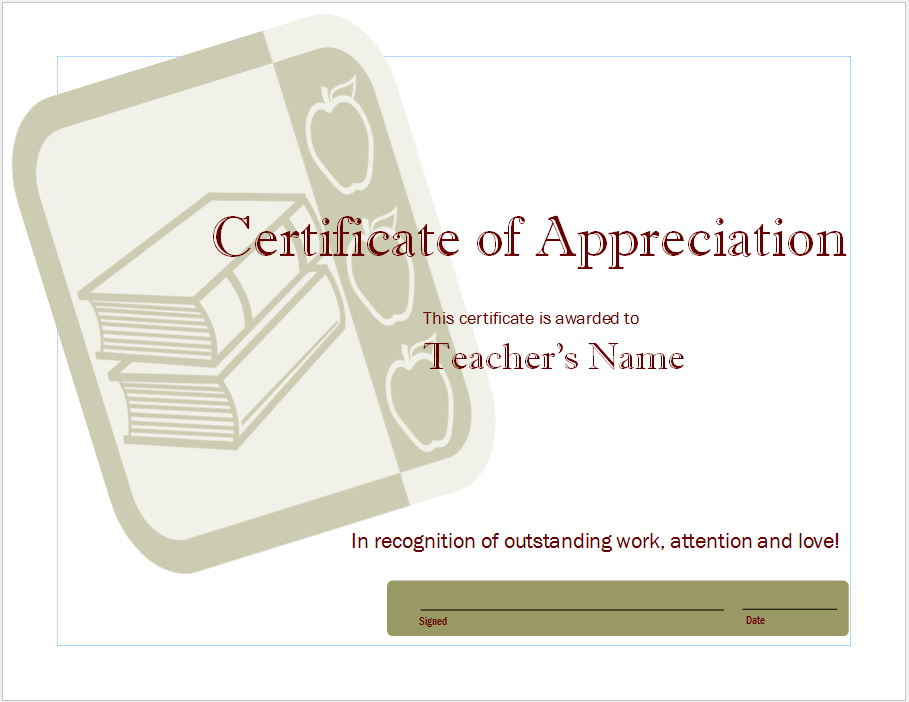 Appreciation Certificate Template 03
