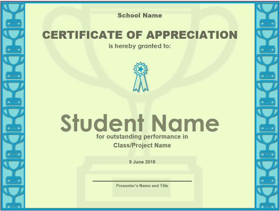 Appreciation Certificate Template 06