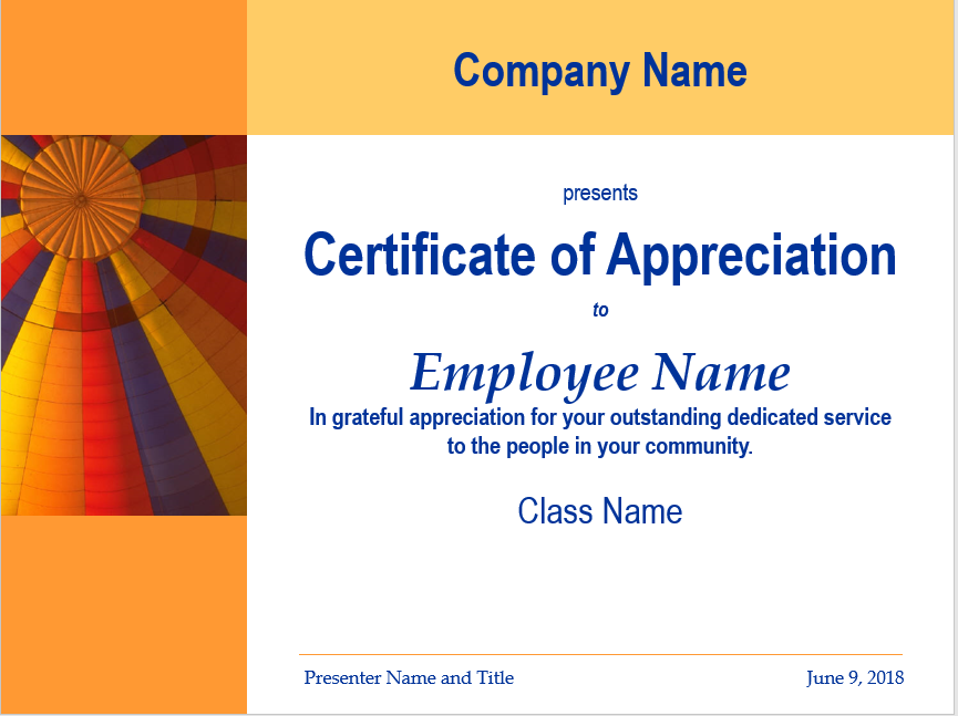 Appreciation Certificate Template 07