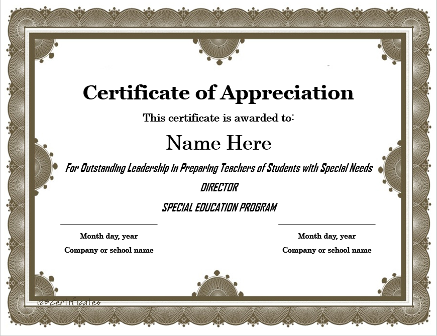 Appreciation Certificate Template 11