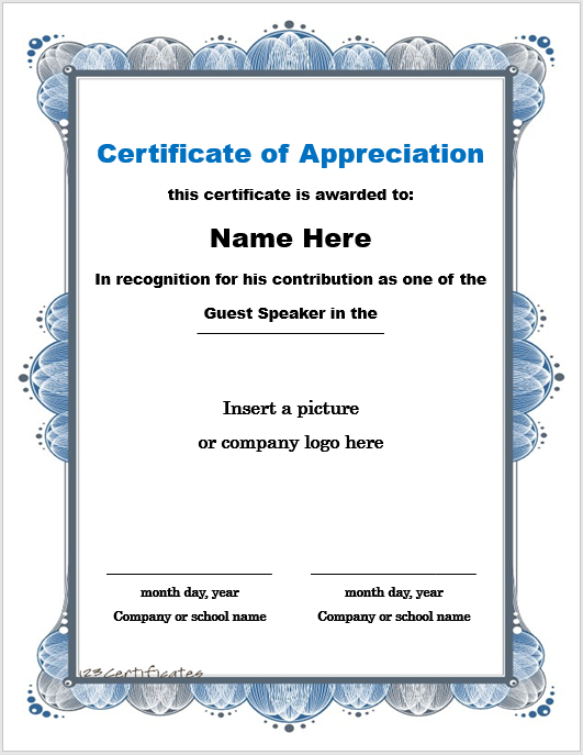 Appreciation Certificate Template 15