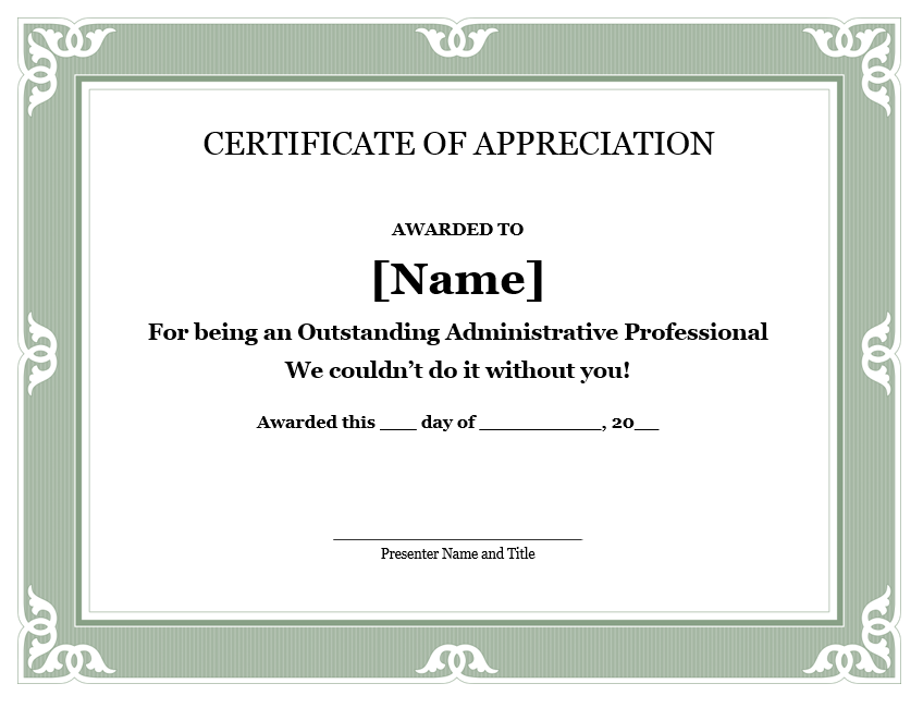 Appreciation Certificate Template 18