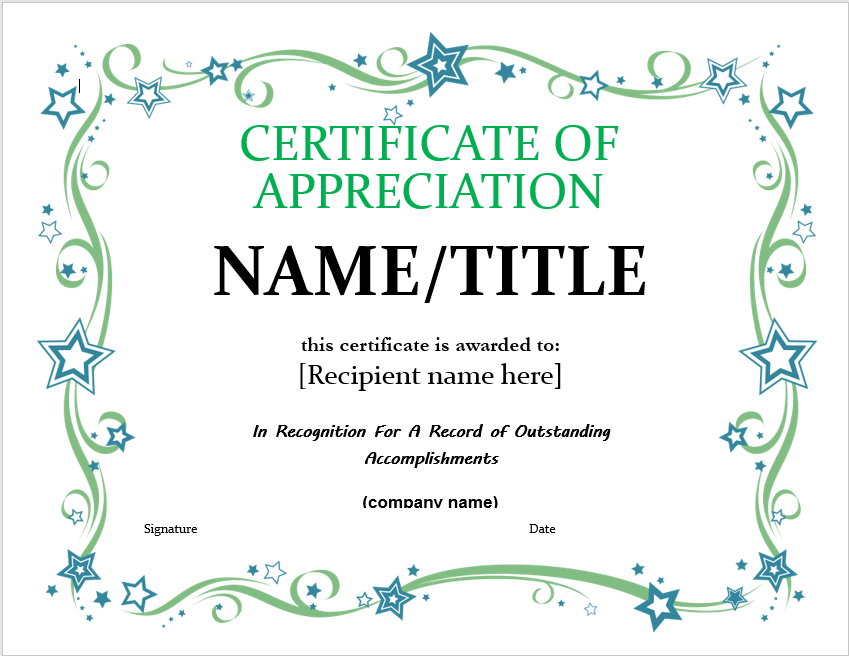 Appreciation Certificate Template 19
