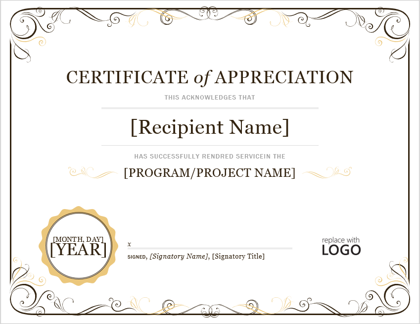 Appreciation Certificate Template 21