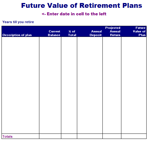 Future Value of Retirement Plans