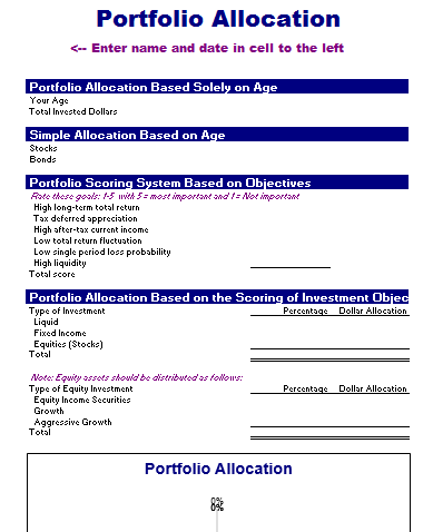 Portfolio Allocation Template