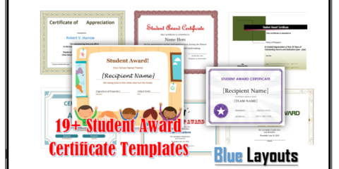 Student Award Templates